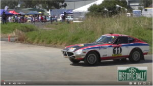 Datsun 260Z rally car at Rally Retro Festival